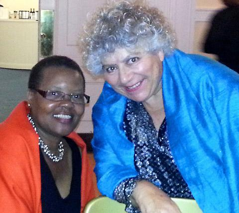 Margaret Sentamu and Miriam Margolyes