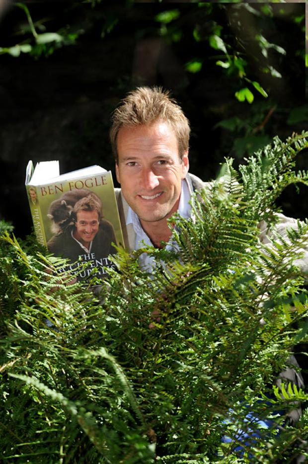 Ben Fogle with his new book, The Accidental Naturalist