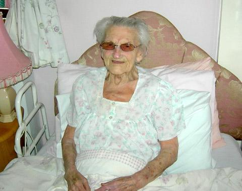 Violet Elsegood, formerly of York, who is celebrating her 100th birthday today