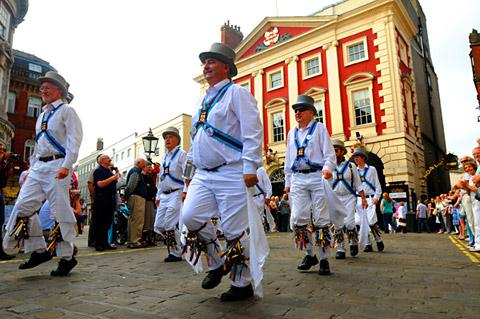 Ebor Morris Dancers take part in the 25th York Festival of Traditional Dance