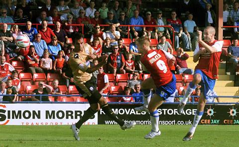 Jason Walker volleys home York City's spectacular second equalising goal
