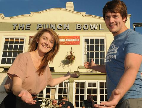 New landlady and landlord at The Punch Bowl pub