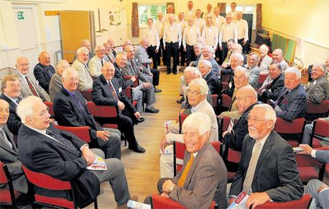 Members of the York Probus Club are entertained by singing group The Daytones at Dringhouses Church Hall