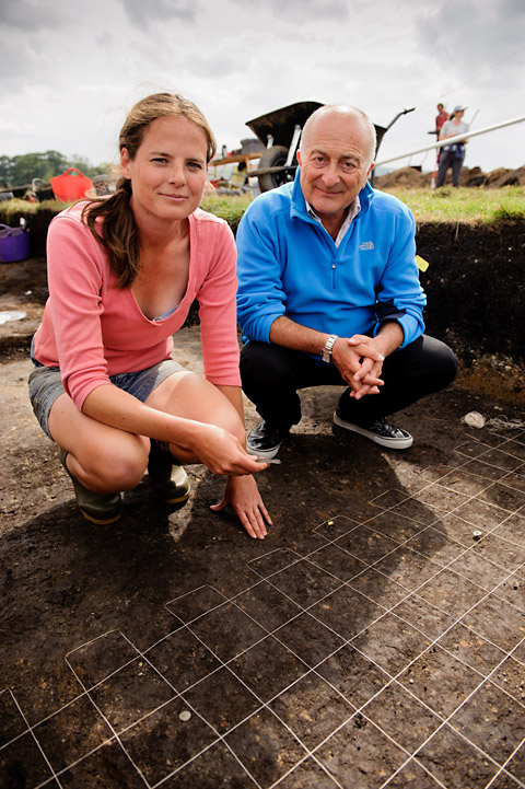 Dr Nicky Milner and Tony Robinson at the Star Carr dig
