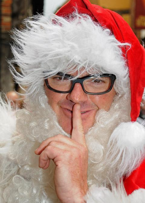 TV chef Heston Blumenthal in his Father Christmas costume