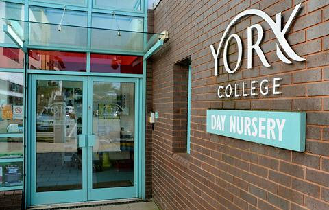 The York College Nursery will stay closed until at least October 1