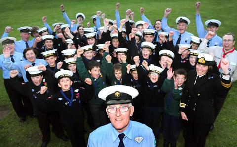 Peter Swann with the Sea Scouts