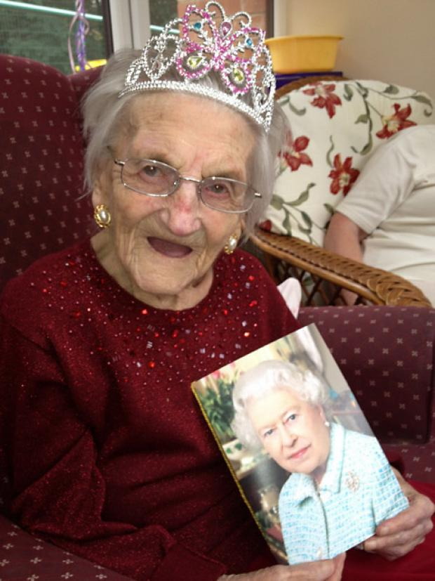 Violet celebrates her 100th birthday