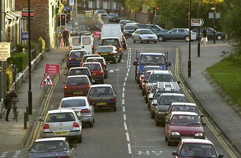 Flashback to roadworks in Cemetery Road in 2011 which caused long delays for commuters