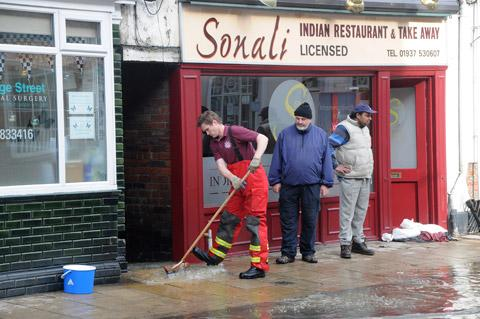 Cleaning up starts at a Tadcaster town centre restaurant