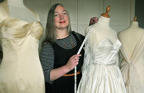 Jane Elmer, of Albemarle Road, in York, who has made a wedding dress which is to appear on the BBC's Don't Tell The Bride programme