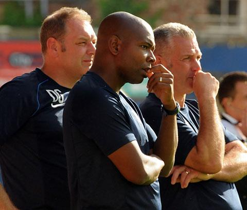 York City's management team of, from left, Darron Gee,  Des Lyttle and boss Gary Mills