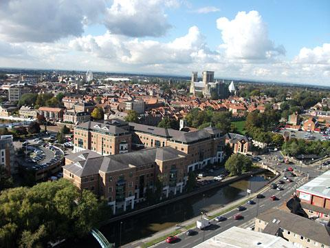 A stunning view of York taken from the top of the chimney by a worker from steeplejack firm Horizon Specialist Contracting Ltd