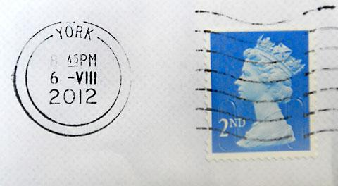 York to lose postmark