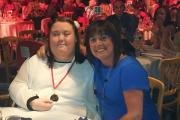 Afton Gemmell, 21, who won a bronze medal in the Transplant Games, with her mum, Heather