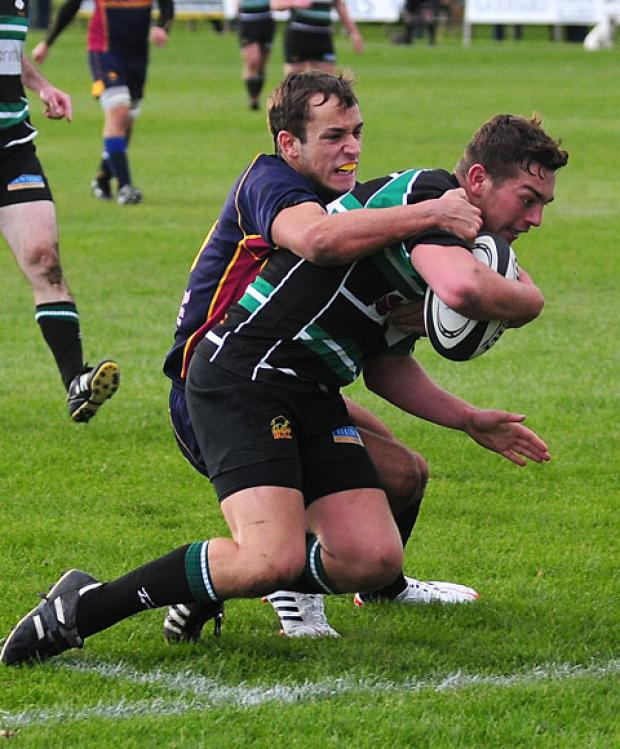 York fly-half Ben Johnson scores his side's opening try against Wath