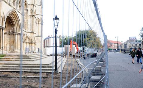 Work has now started on revamping the south transept of York Minster as part of a scheme to improve access to the cathedral