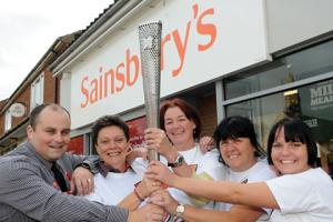 Olympic spirit lives on at Haxby store