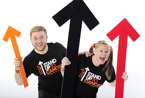 Harry Baines and Rachel Speight-McGregor urge everyone to stand up to cancer