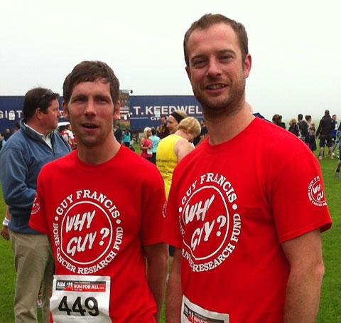 Dave Robinson, left, and Chris Baker, in training for their Three Peaks challenge