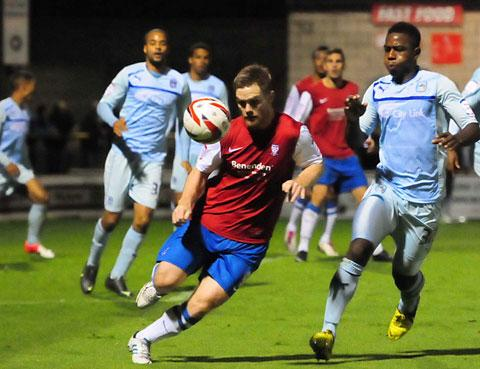 York City striker Jason Walker has been on crutches since  picking up  a mystery foot injury  in his side's 4-0 home defeat by Coventry  in the Johnstone's Paint Trophy at Bootham Crescent in midweek