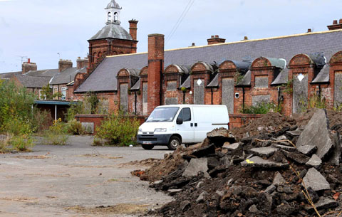 Bulldozers move in on former York school