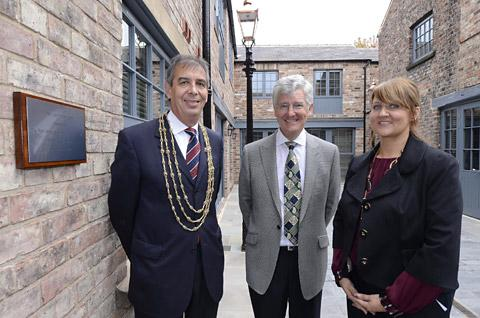 RECLAIMED: The Lord Mayor of York, Councillor Keith Hyman, Tony Booth and Yvonne White view the Lawrance  apartments in Micklegate