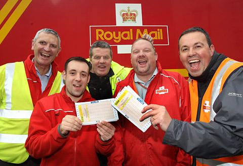 The winning postmen from left, Alan Wood, Dave Farrow, Dave Bell, Steve Kelly and Chris Pamplin