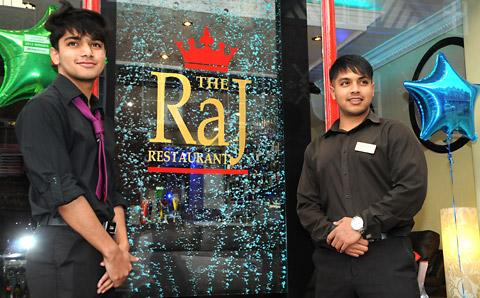 Faysal, left, and Raj Ahmad, owner of The Raj restaurant in Bootham, York