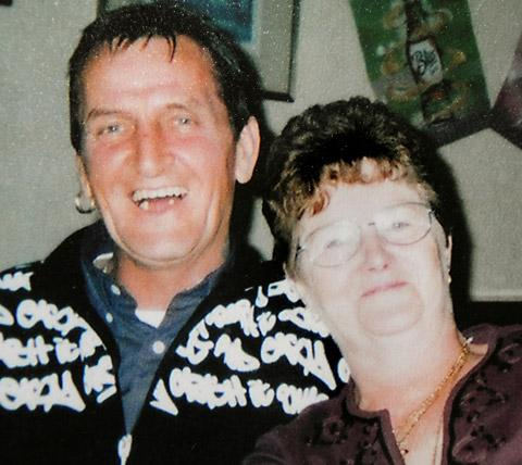 Keith Beever with his wife, Janet