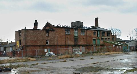 The old tannery in Strensall seen in 2007 after vandal attacks