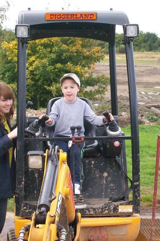 Noah Banks at Diggerland
