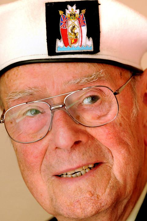 Bill Sunderland, who served on board HMS Serapis during the Second World War