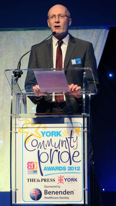 York Press: The Press's Managing Editor Steve Hughes speaking at the Community Pride Awards