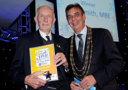 Public Sector Hero winner Alan Smith MBE (left) with the Lord Mayor of York, Coun Keith Hyman