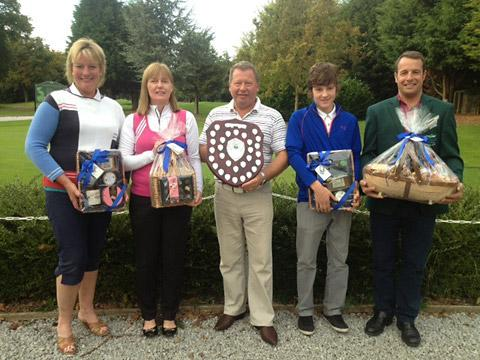 Winners from the Overington Trophy, from left: Sally Wilkinson, Jackie Willerton, Dave Saunders, Josh Hill and Allerthorpe Park GC club captain Andy Barrett.