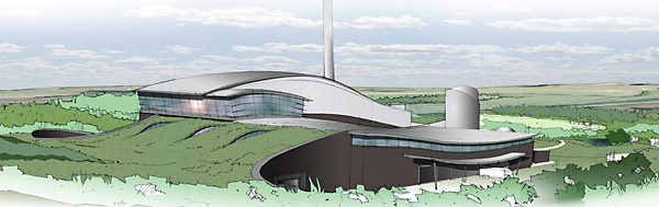 An artist's impression of the proposed Allerton incinerator