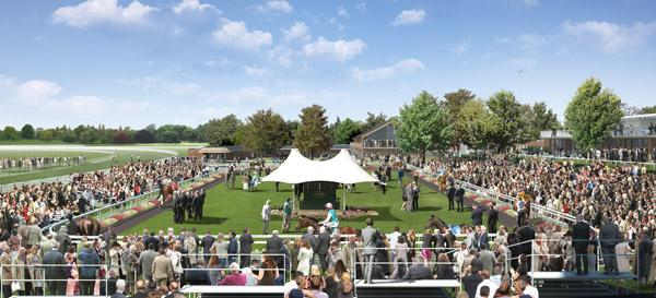 An artist's impression of York Racecourse's parade ring showing the new features of a proposed £5 million redevelopment scheme
