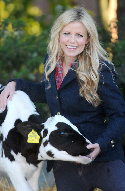 Countryfile presenter Ellie Harrison at Askham Bryan College