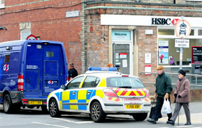 Bank robbery in York