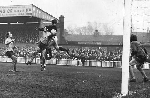 Paul Aimson, pictured continuing his scoring feats for City in a successful second spell at Bootham Crescent, is one player who disproves the 'never go back' cliché