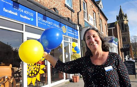 Manager Maria Aebi outside the new St Leonard's Hospice shop in Heworth, which is dedicated to selling furniture