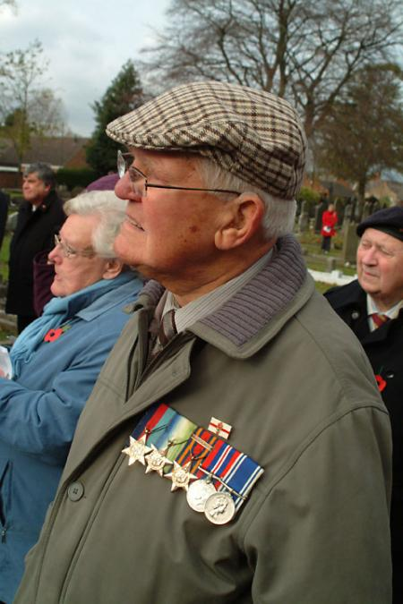 War veteran Walter Burton wears his medals with pride