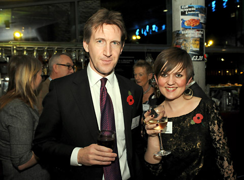 Shadow Arts And Culture Minister Dan Jarvis with Aesthetica's Grace Henderson at the City Screen for film festival