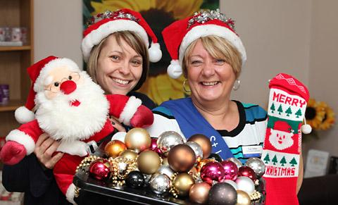 Sue Miller, fundraising manager at St Leonard's Hospice and Sarah Atkinson, community fundraiser, are appealing for donations for gifts for their Christmas Fair