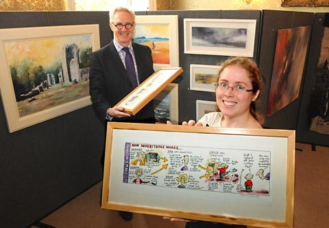 York Press: Bootham School archivist Jenny Orwin and head teacher Jonathan Taylor with