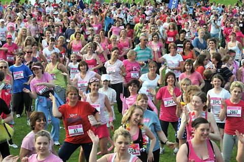 Runners warm up for this year's Race For Life on Knavesmire