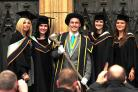 York St John Universty students celebrate receiving their degrees in York Minster