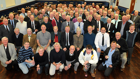 Some of the former pupils of St George's School who attended the reunion