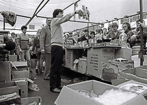 "York market pitcher: ""You get the Sindy boy, the Sindy girl, and the baby in the back there. And the only reason the baby's in the back there is because, when we unloaded the van here this morning, we found little Sindy in the same box as Action Man."
